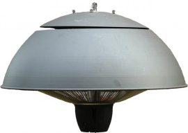 Mennyezetre függeszthető halogén lámpás teraszfűtő - szürke festett burkolattal